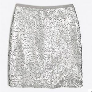 NWT J. Crew Factory Sequin mini skirt sz 6P